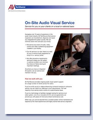 Handout for AV TechSource by Kreski Marketing