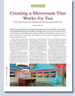 Luxury CE feature Crestron Showroom - story and placement by Kreski Marketing