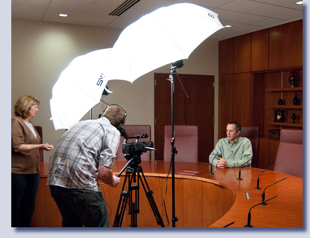 Video production shoot by Kreski Marketing for Wireless Computing