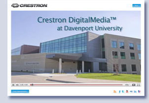 Video shot for Crestron at Davenport University