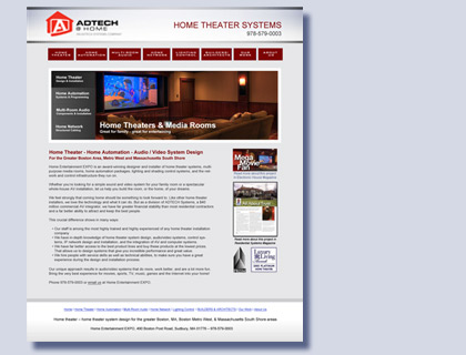 Home Entertainment EXPO website design by Kreski Marketing