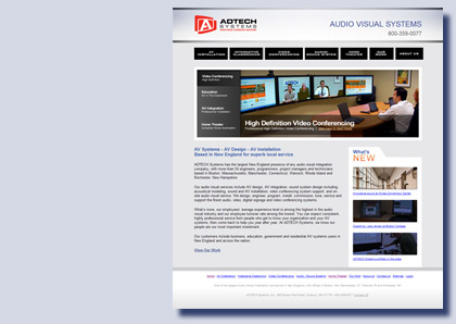 Adtech Systems website by Kreski Marketing Consultants